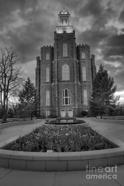 Photograph - Logan Utah Evening Portrait Black And White by Adam Jewell