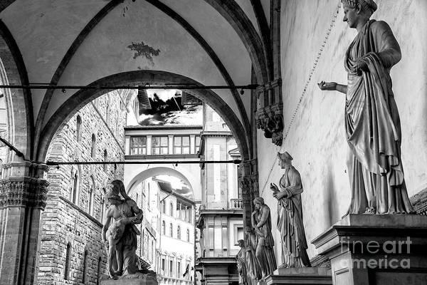 Photograph - Loggia Dei Lanzi Statues Florence by John Rizzuto