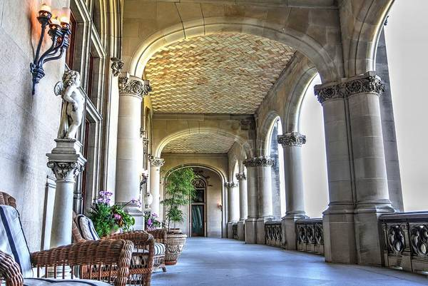 Photograph - Loggia Of Biltmore House by Carol Montoya