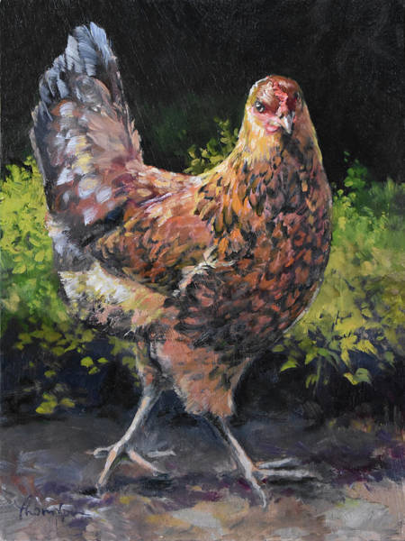 Barnyard Animal Painting - Lola The Showgirl by Tracie Thompson