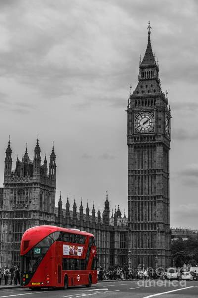 Digital Art - London 1 by Michael Graham