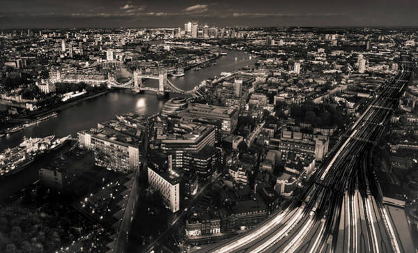 Photograph - London At Night by Chris Cousins