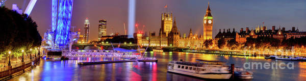 Wall Art - Photograph - London At Night by Juan Carlos Ballesteros