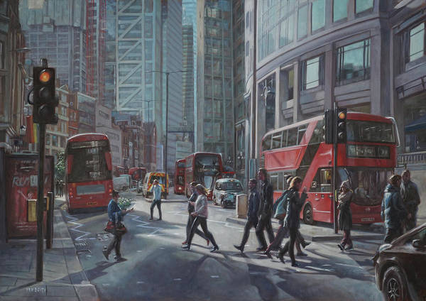 Painting - London Bishopsgate by Martin Davey