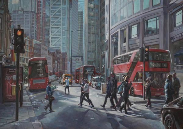 Wall Art - Painting - London Bishopsgate by Martin Davey