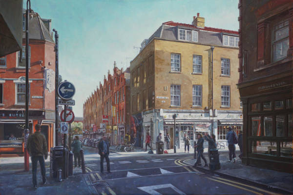 Painting - London Brick Lane  by Martin Davey