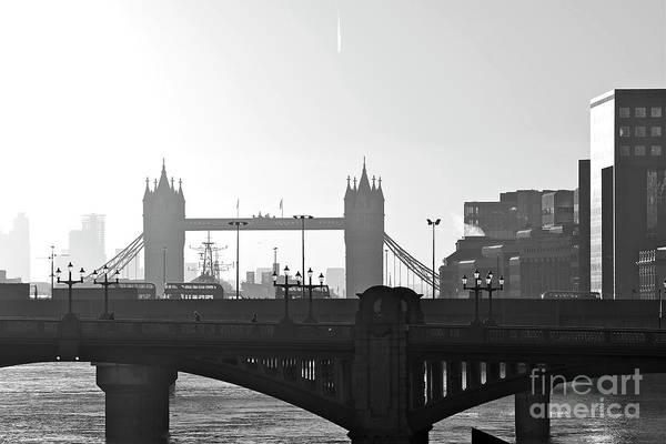 Millenium Photograph - London Bridges by Alex Cassels