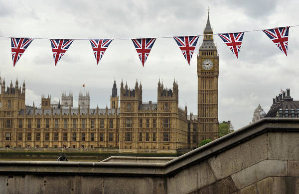 Houses Of Parliament Photograph - London Bunting by Oversnap