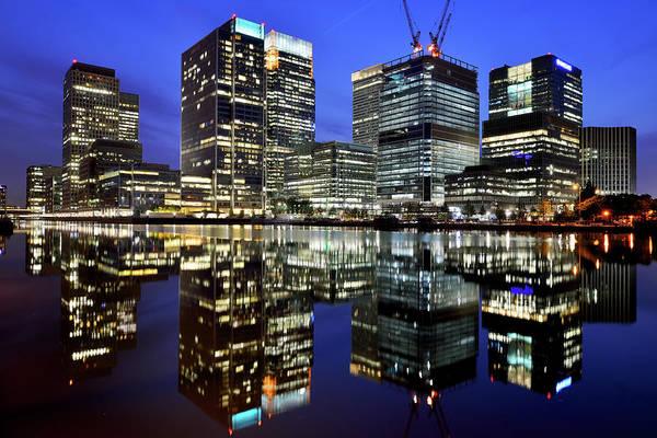 Canary Wharf Photograph - London, Canary Wharf At Sunset by Vladimir Zakharov