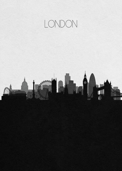 Souvenir Digital Art - London Cityscape Art by Inspirowl Design