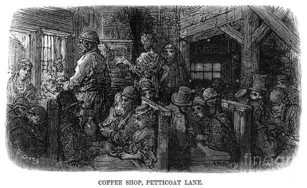 Drawing - London Coffee Shop, 1872 by Gustave Dore