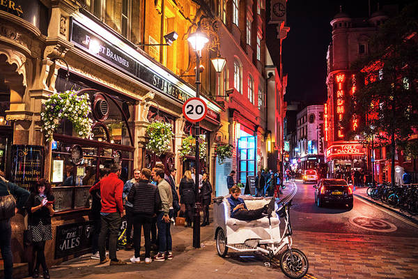 Photograph - London England Nightlife St. James Pub Great Windmill Street by Toby McGuire