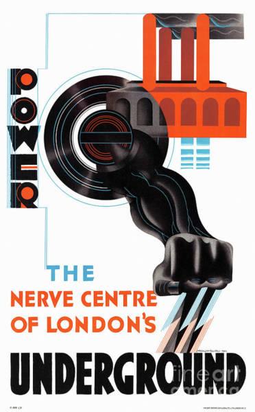 Nerves Drawing - London England Vintage Travel Poster Restored by Vintage Treasure