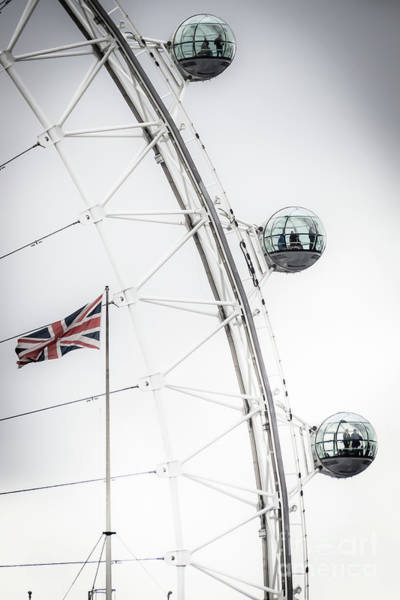London Eye And Union Jack Art Print
