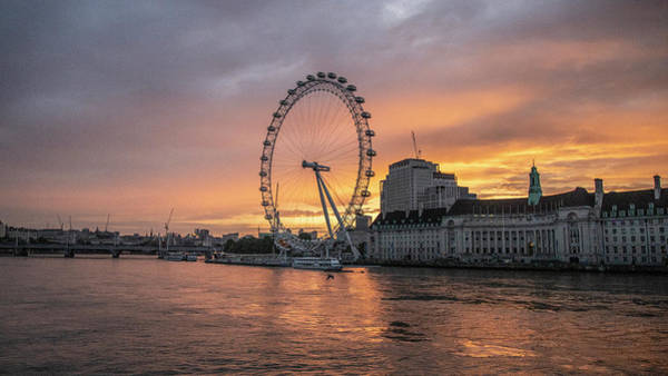 Wall Art - Photograph - London Eye At Thames At Sunrise by John McGraw