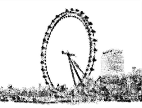 Digital Art - London Eye by ISAW Company