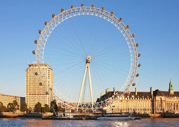 South Bank Photograph - London Eye, River Thames, Southbank by Laurie Noble
