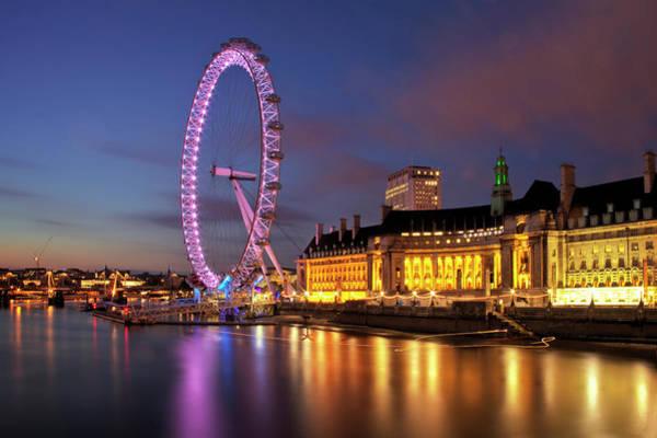 Millennium Park Photograph - London Eye by Stuart Stevenson Photography