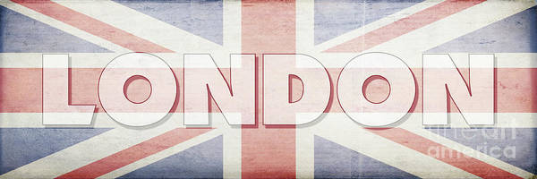 Wall Art - Digital Art - London Faded Flag Design by Edward Fielding