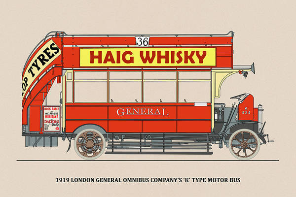 Wall Art - Photograph - London General Omnibus K-type Bus by Mark Rogan