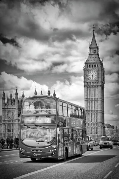 Wall Art - Photograph - London Houses Of Parliament And Traffic by Melanie Viola