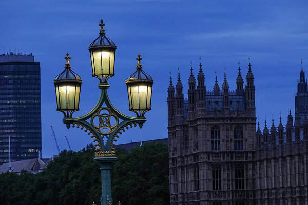 Photograph - London Lights At Dusk London Uk by Toby McGuire