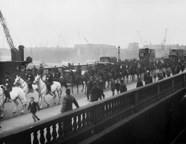 Exhibition Photograph - London Mounties by Sasha