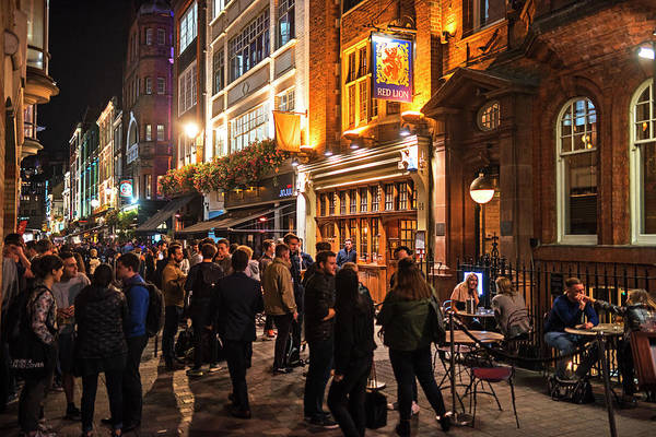 Photograph - London Nightlife Carnaby Street London Uk United Kingdom Pub by Toby McGuire