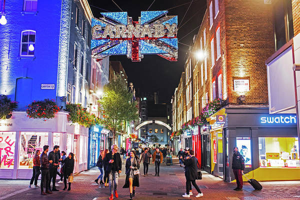 Photograph - London Nightlife Carnaby Street London Uk United Kingdom by Toby McGuire