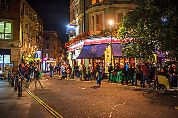 Photograph - London Nightlife The Round House Covent Garden London Uk United Kingdom by Toby McGuire