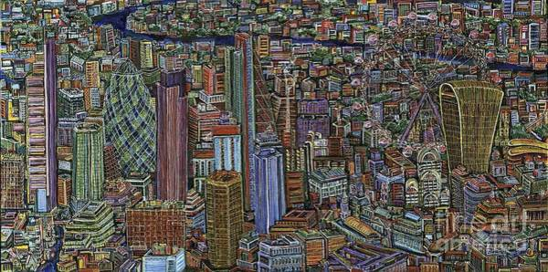Renzo Piano Painting - London Evening Standard Competition  by Architectural Ink by Lee-Ann Adendorff