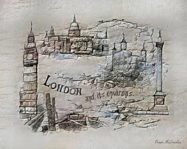 Digital Art - London by Pennie McCracken