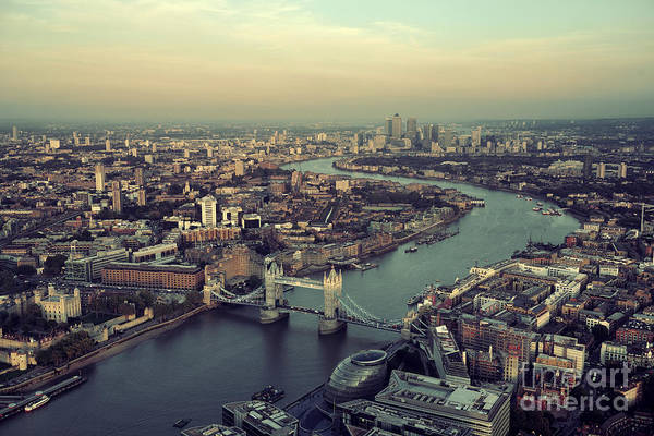 Wall Art - Photograph - London Rooftop View Panorama At Sunset by Songquan Deng