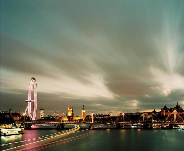 Houses Of Parliament Wall Art - Photograph - London Skyline Viewed Across River by Gary Yeowell