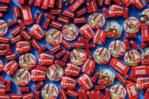 Photograph - London Souvenir Fridge Magnets Pattern by Tim Gainey