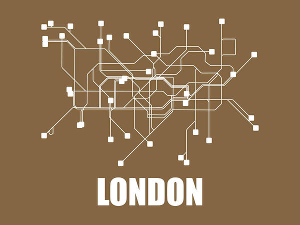 Wall Art - Digital Art - London Subway Map 2 by Naxart Studio