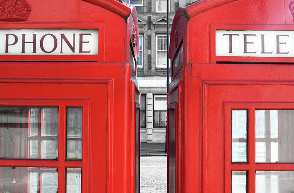 Side-by-side Photograph - London Telephones by Richard Newstead