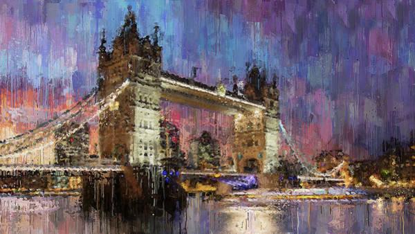 Painting - London, Tower Bridge - 06 by Andrea Mazzocchetti