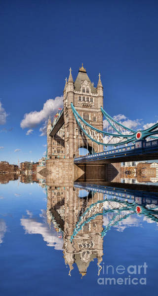 Wall Art - Photograph - London Tower Bridge Reflection by Colin and Linda McKie