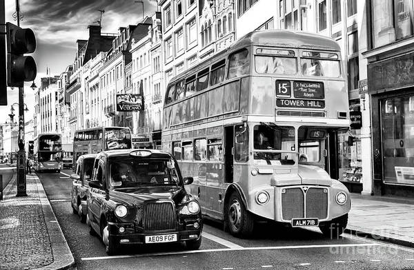 Photograph - London Traffic Scene by John Rizzuto