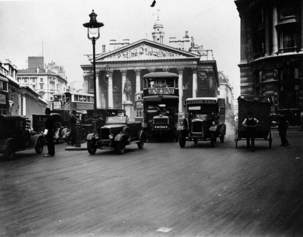 Public Land Photograph - London Traffic by Topical Press Agency