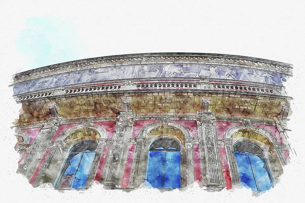 Wall Art - Digital Art - London #watercolor #sketch #london #tourism by TintoDesigns