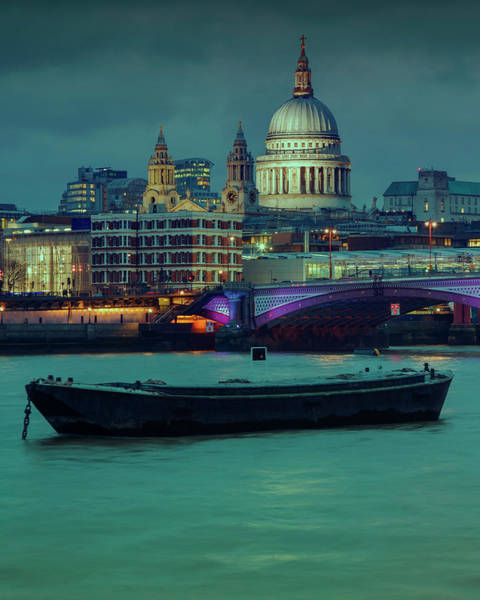 Photograph - Londons Night Skyline by Roland Shainidze Photogaphy