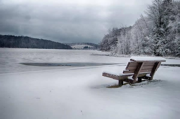 Photograph - Lone Bench by Dan Urban