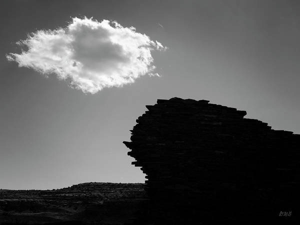 Photograph - Lone Cloud IIi Bw by David Gordon