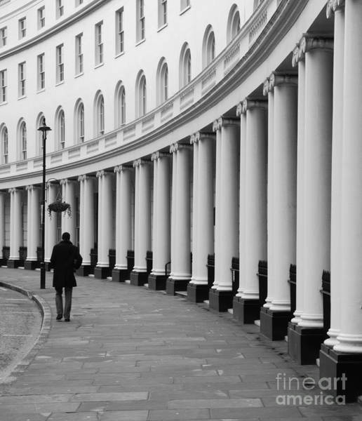 Wall Art - Photograph - Lone Figure Walking Along Londons Park by Johnbraid
