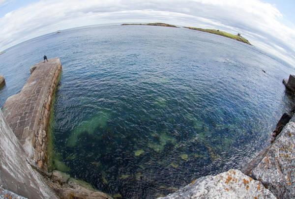 Sport Fish Photograph - Lone Fisherman On Ireland Coast by Lillisphotography