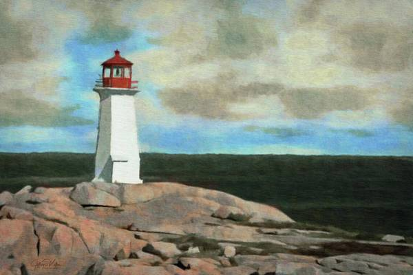 Painting - Lone Lighthouse by Jeffrey Kolker