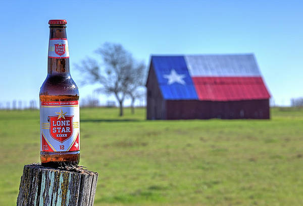 Photograph - Lone Star Beer Deep In The Heart Of Texas by JC Findley