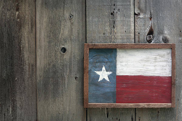 Art Object Photograph - Lone Star State Flag by Kathryn8